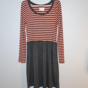Anthropologie Saturday Sunday Orange/Gray Dress